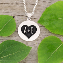 Load image into Gallery viewer, Love Necklace - Anniversary Necklace - Wedding Necklace - Custom Initial Necklace - gift for her