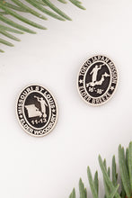 Load image into Gallery viewer, LDS mission pins - personalized lapel pin for LDS missionary - sterling silver pin engraved with missionary name, dates and mission