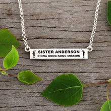 Load image into Gallery viewer, sister missionary - LDS jewelry - bar necklace personalized - lds missionary gift - lds missionary gift ideas - missionary gift ideas