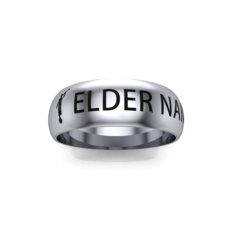 Personalized LDS mission ring engraved with name and mission