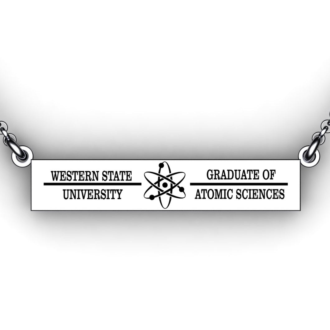 Graduation Necklace - Bar Necklace - Personalize with Graduation Information