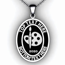 Load image into Gallery viewer, Graduation Oval Necklace - Personalize with Graduation Information