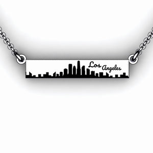 travel necklace city scape with travel quote sterling silver travel jewelry city scene necklace personalize travel jewelry