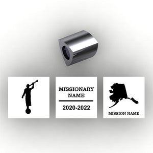 Personalized 3 sided pandora style charm - add your own information to personalize - add LDS Mission information temple or country choice, missionary name and dates mission name