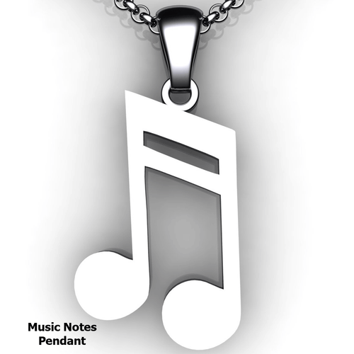 note pendant note necklace double note custom design music jewelry customized jewelry