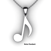 Load image into Gallery viewer, note pendant note necklace single note custom design music jewelry