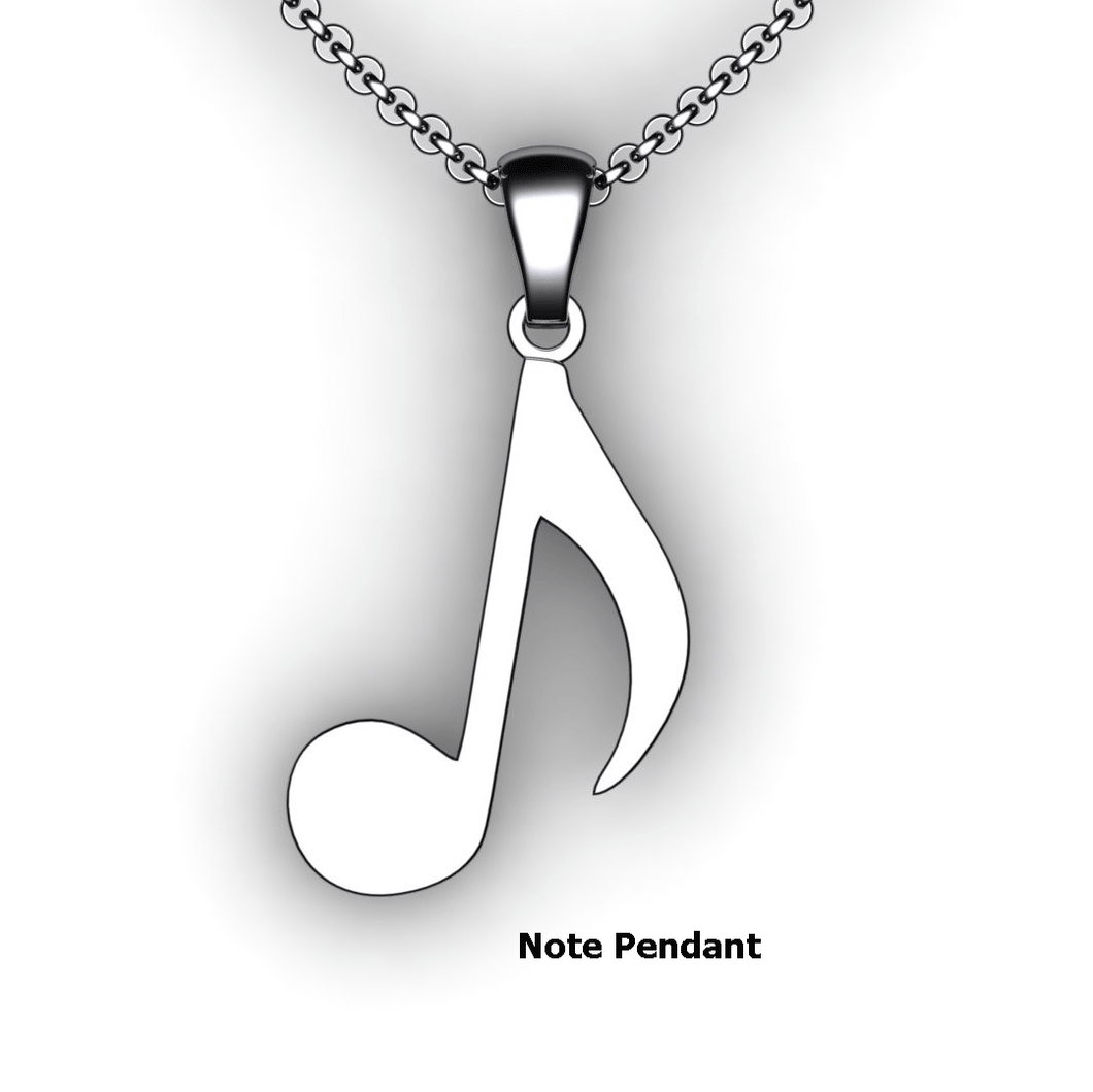 note pendant note necklace single note custom design music jewelry