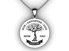 Load image into Gallery viewer, family tree necklace with names - personalized childrens names necklace - make your own custom necklace - family tree template