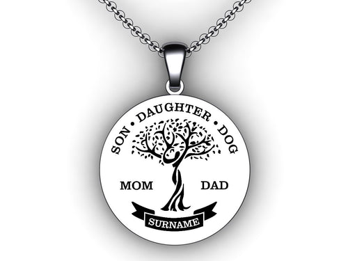 family tree necklace with names - personalized childrens names necklace - make your own custom necklace - family tree template