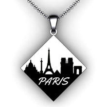 Load image into Gallery viewer, custom city skyline necklace - jewelry creator - personalized necklace - engraving necklaces - embossed necklaces - embossed jewelry