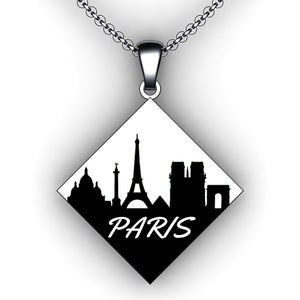 custom city skyline necklace - jewelry creator - personalized necklace - engraving necklaces - embossed necklaces - embossed jewelry