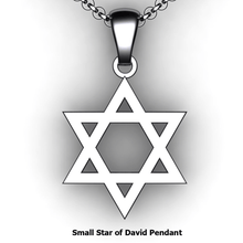 Load image into Gallery viewer, custom star of david necklace you design personalized  Star of David necklace customized jewelry