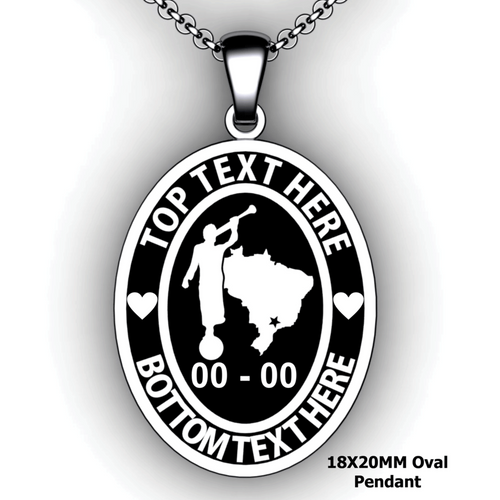 Mission Oval Embossed Pendant with Moroni and Mission Country or State - Personalize with Missionary Name and Mission