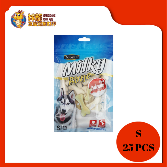 GOODIES CALCIUM MILKY BONE-MILK S 25PCS