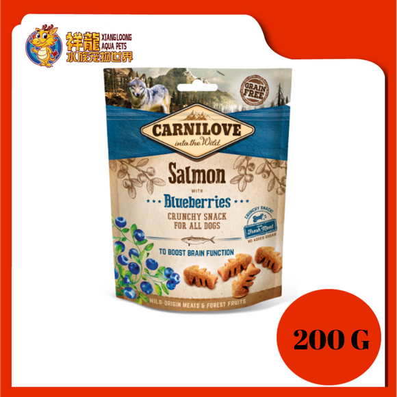 CARNILOVE CRUNCHY SALMON/BLUEBERRIES 200G