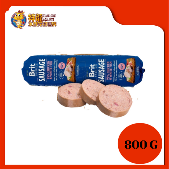 BRIT SAUSAGE 800G - CHICKEN / WHITE FISH
