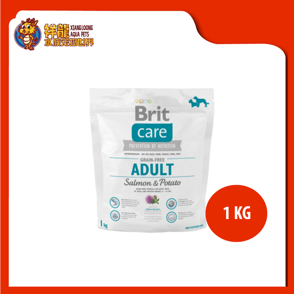 BRIT CARE GRAIN FREE ADULT SALMON & POTATO 1KG