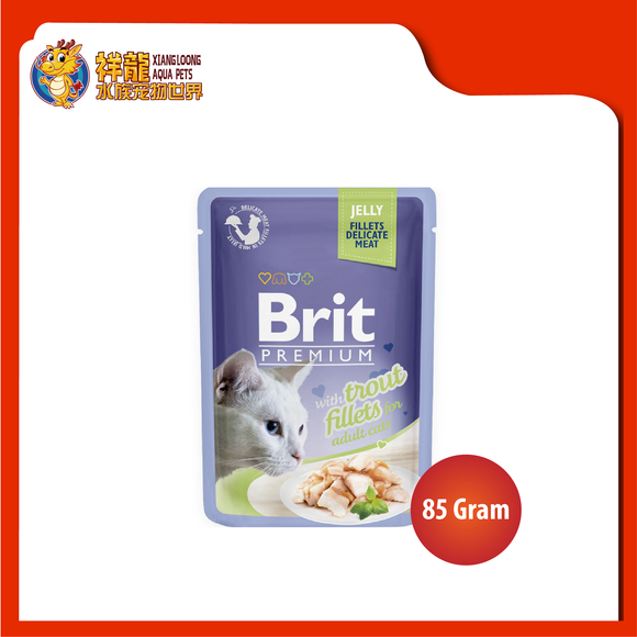 BRIT POUCH JELLY WITH TROUT FILLETS 85G
