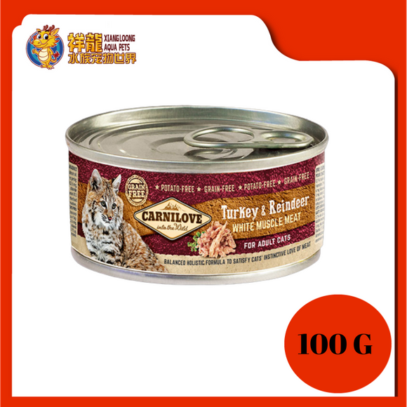 CARNILOVE ADULT TURKEY & REINDEER 100G