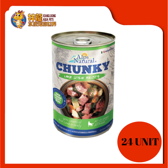 ALPS CHUNKY LAMB DOG CAN FOOD 415G (RM4.18 X 24 UNIT)