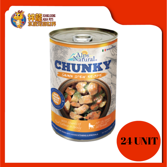 ALPS CHUNKY SALMON DOG CAN FOOD 415G (RM4.18 X 24 UNIT)
