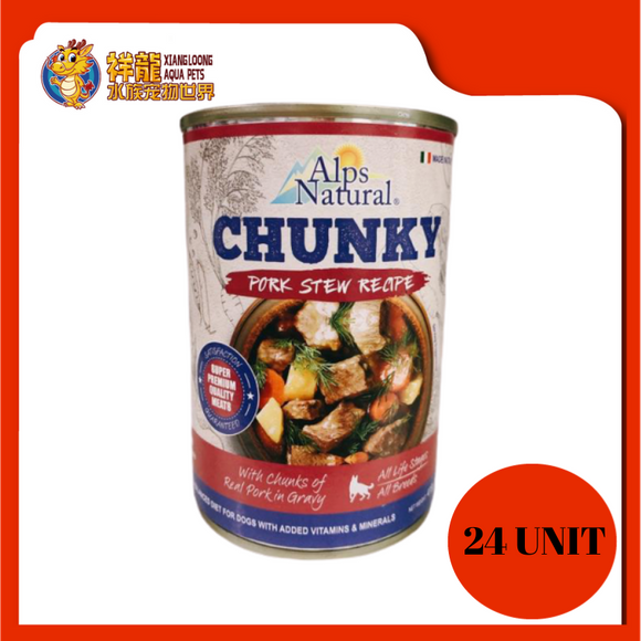 ALPS CHUNKY PORK DOG CAN FOOD 415G (RM4.18 X 24 UNIT)