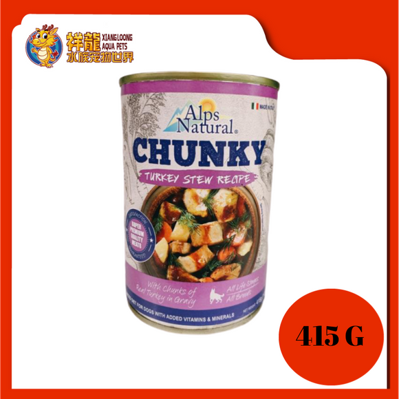 ALPS CHUNKY TURKEY DOG CAN FOOD 415G
