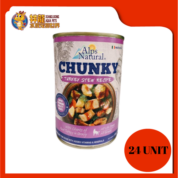 ALPS CHUNKY TURKEY DOG CAN FOOD 415G (RM4.18 X 24 UNIT)