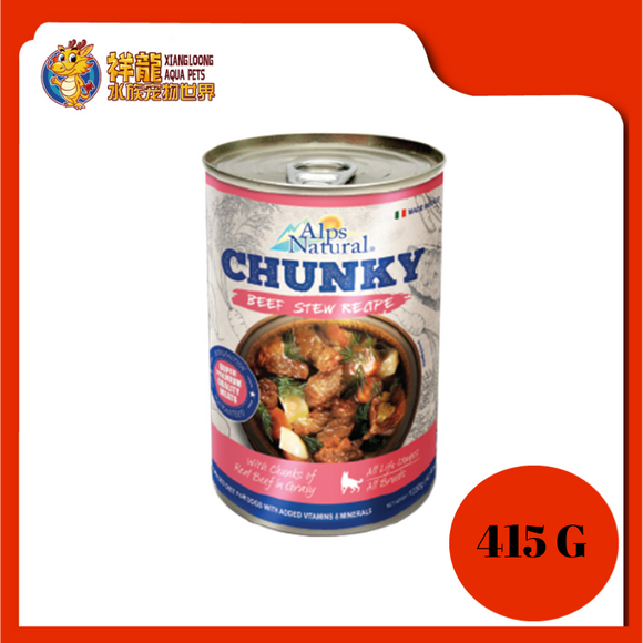 ALPS CHUNKY BEEF DOG CAN FOOD 415G