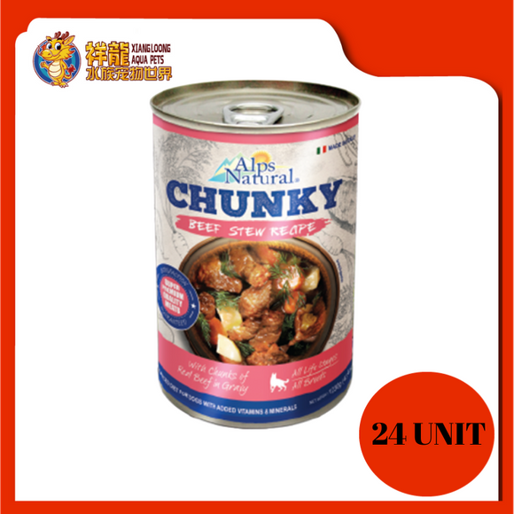 ALPS CHUNKY BEEF DOG CAN FOOD 415G (RM4.18 X 24 UNIT)