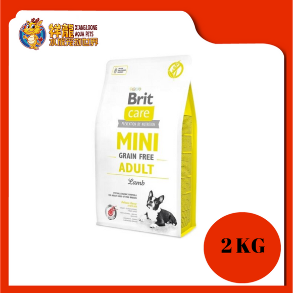BRIT CARE GF MINI ADULT LAMB 2KG