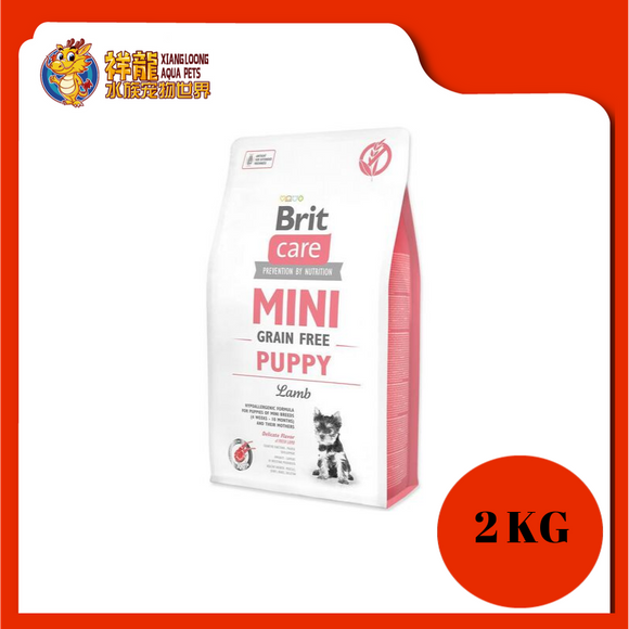 BRIT CARE GF MINI PUPPY LAMB 2KG