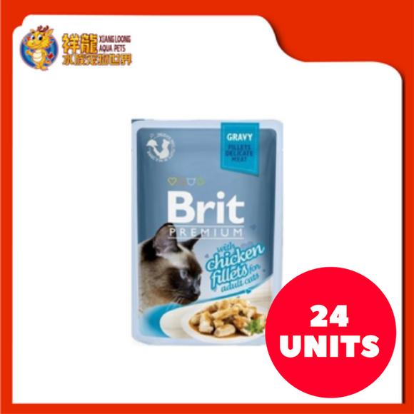 BRIT PREMIUM POUCH GRAVY WITH CHICKEN FILLETS 85G (24XRM1.83)