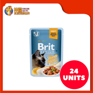 BRIT POUCH GRAVY WITH TUNA FILLETS 85G (24XRM1.83)