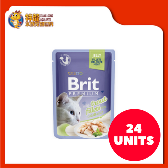 BRIT POUCH JELLY WITH TROUT FILLETS 85G (24XRM1.83)