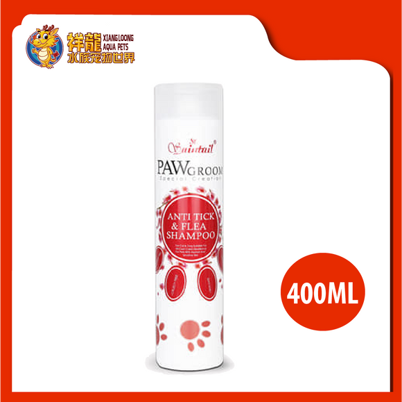PAWGROOM ANTI TICK&FLEA 400ML