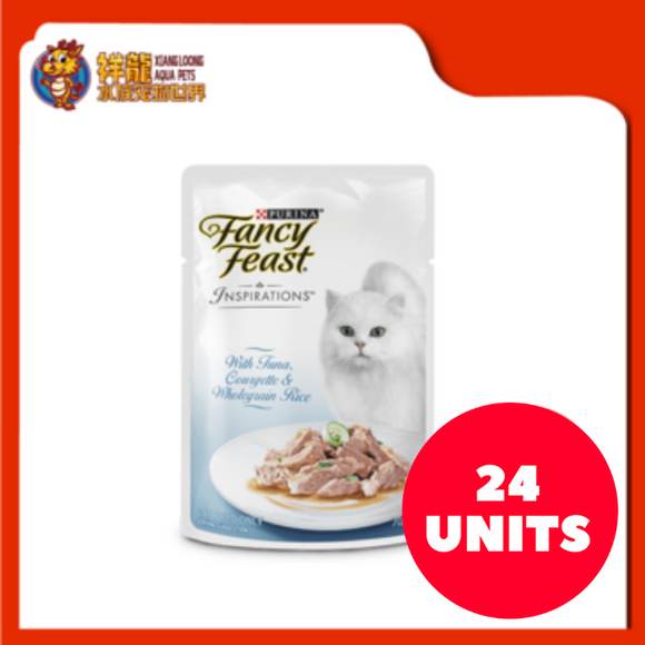 FANCY FEAST INSPIRATIONS TUNA , COURGETTE & WHOLEGRAIN RICE 70G (24XRM3.04)