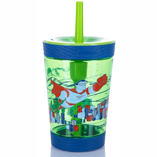 Flašica za decu Spill proof tumbler 14 Granny Smith superhero 420 ml