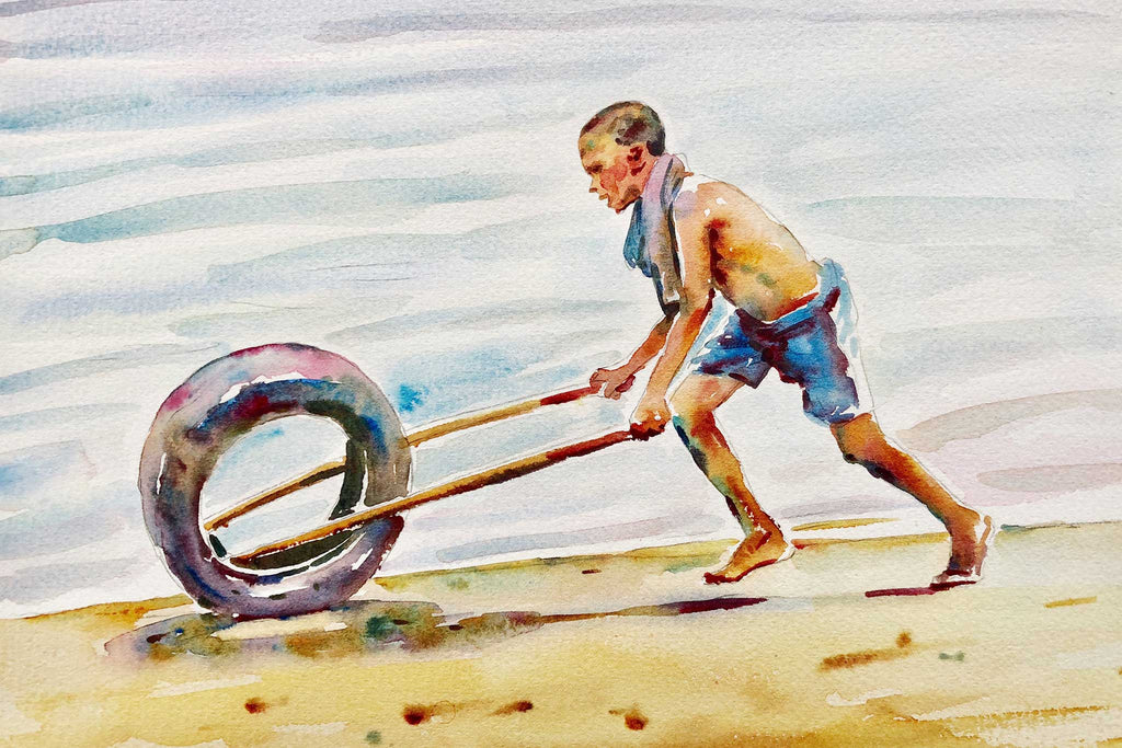 Boy Spinning Tyre - Preview