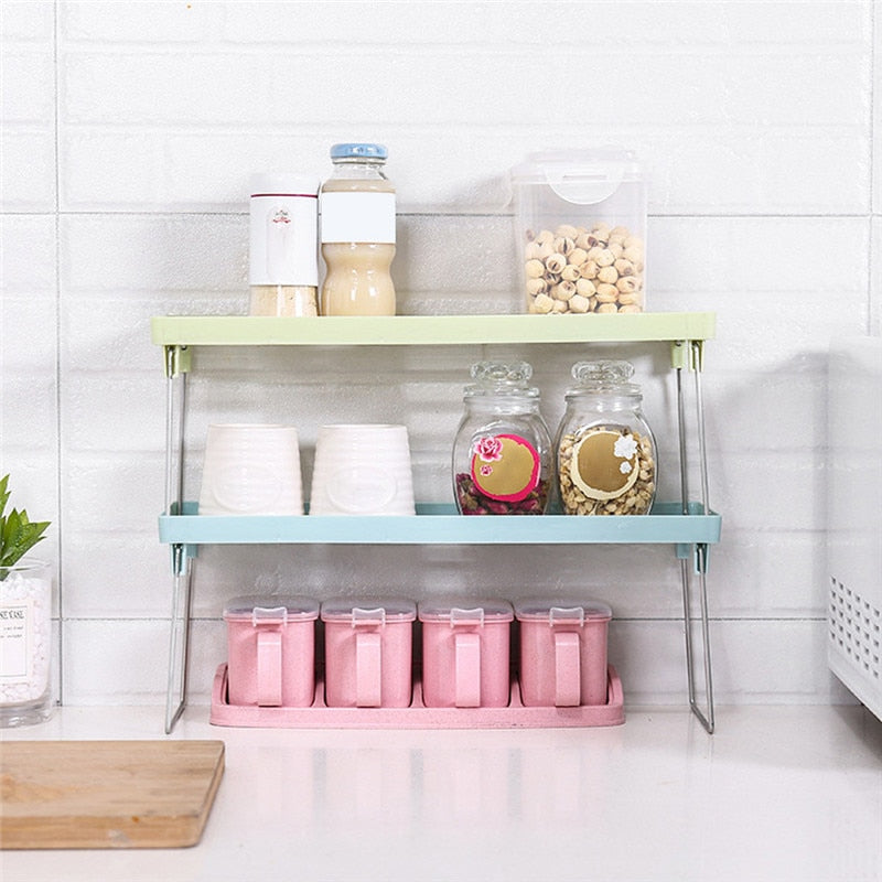 Standing Rack Kitchen Storage Racks Plastic Shelf Storage