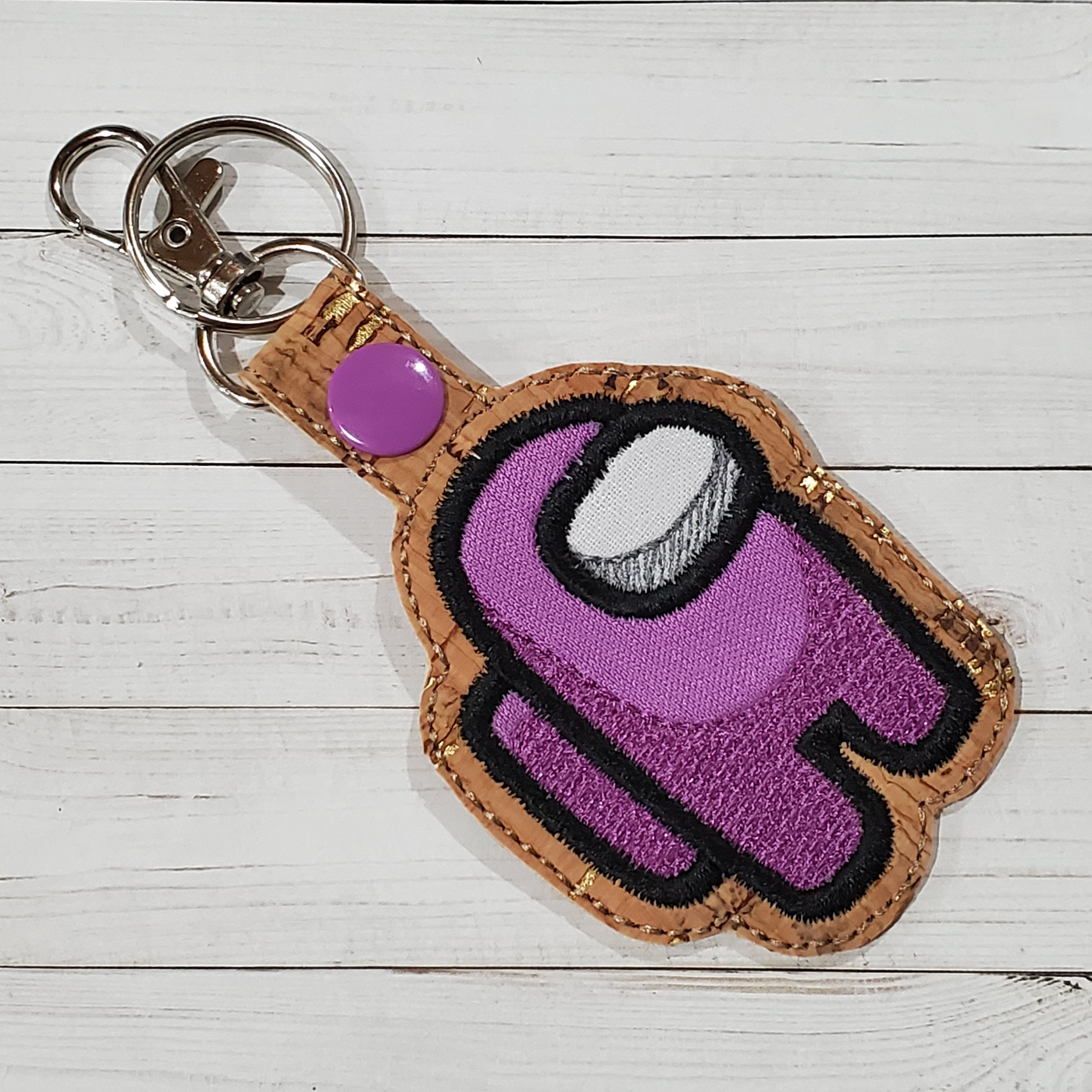 Crewmate Imposter Embroidered Keychain