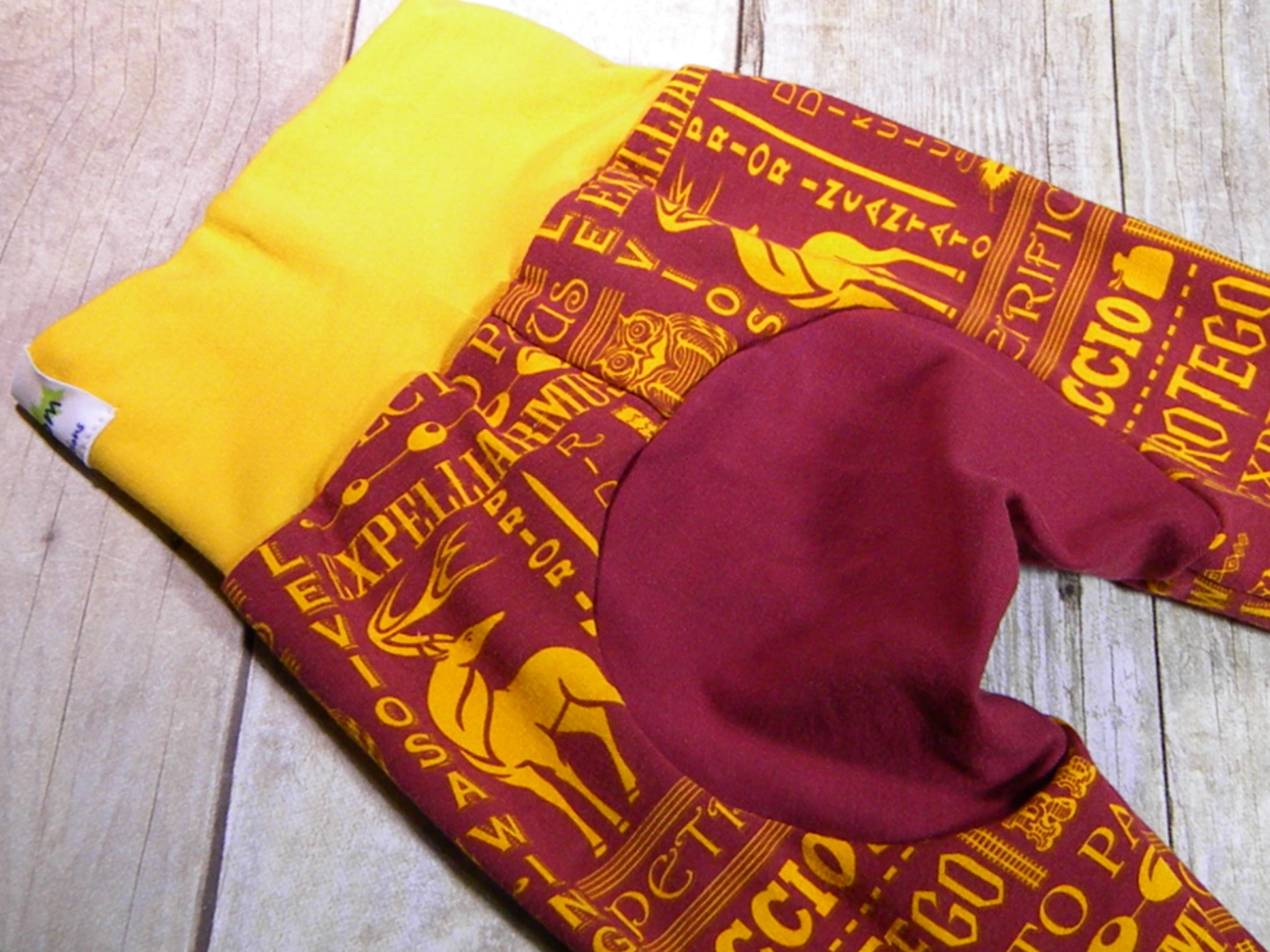 Gryffindor Spells Monster Bunz Grow with me Pants Luxe Medium {3-18 months}