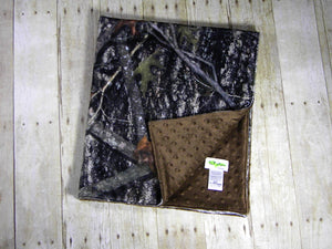 True Timber Camouflage Toddler Minky Blanket