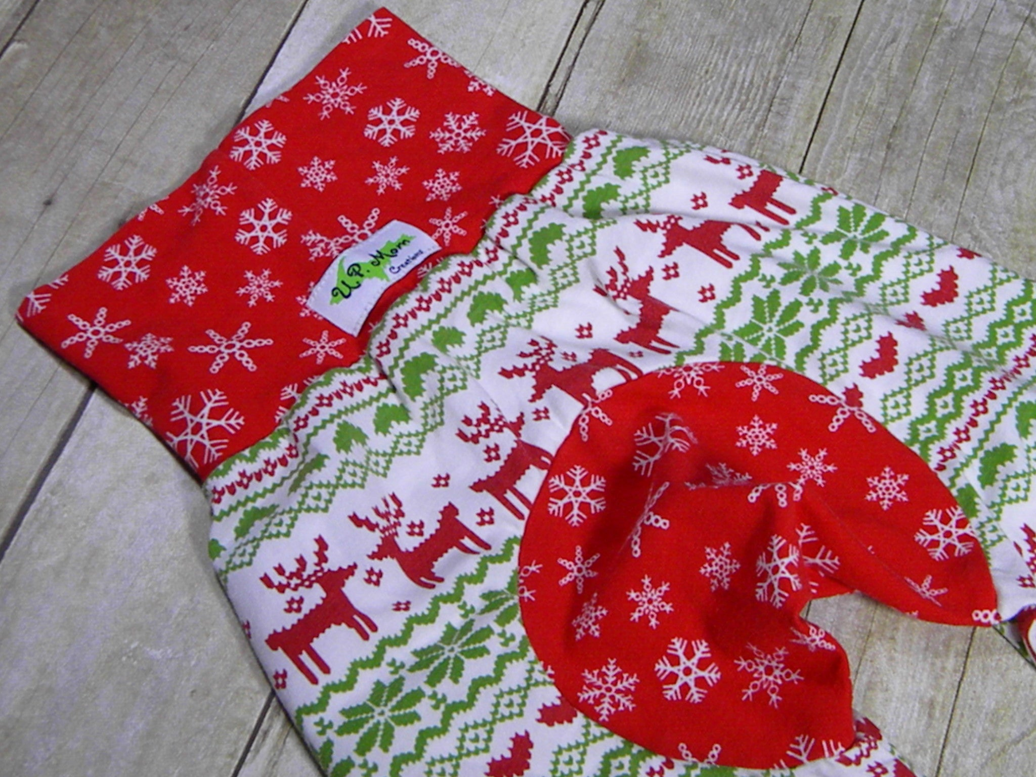 Green and Red Fair Isle Deer Sweater Monster Bunz Grow with me Pants Luxe Large {1-4 years}