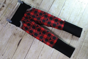 Lumber Mouse Buffalo Plaid Forever Fit Joggers Size Small {6/9 months to 3/4 years}