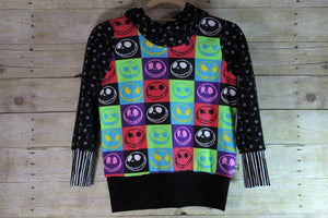 Checkered Skulls Grow with Me Hoodie Size L {7-12 youth}