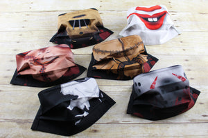 Character Cloth Masks - Reusable & Washable - Scary