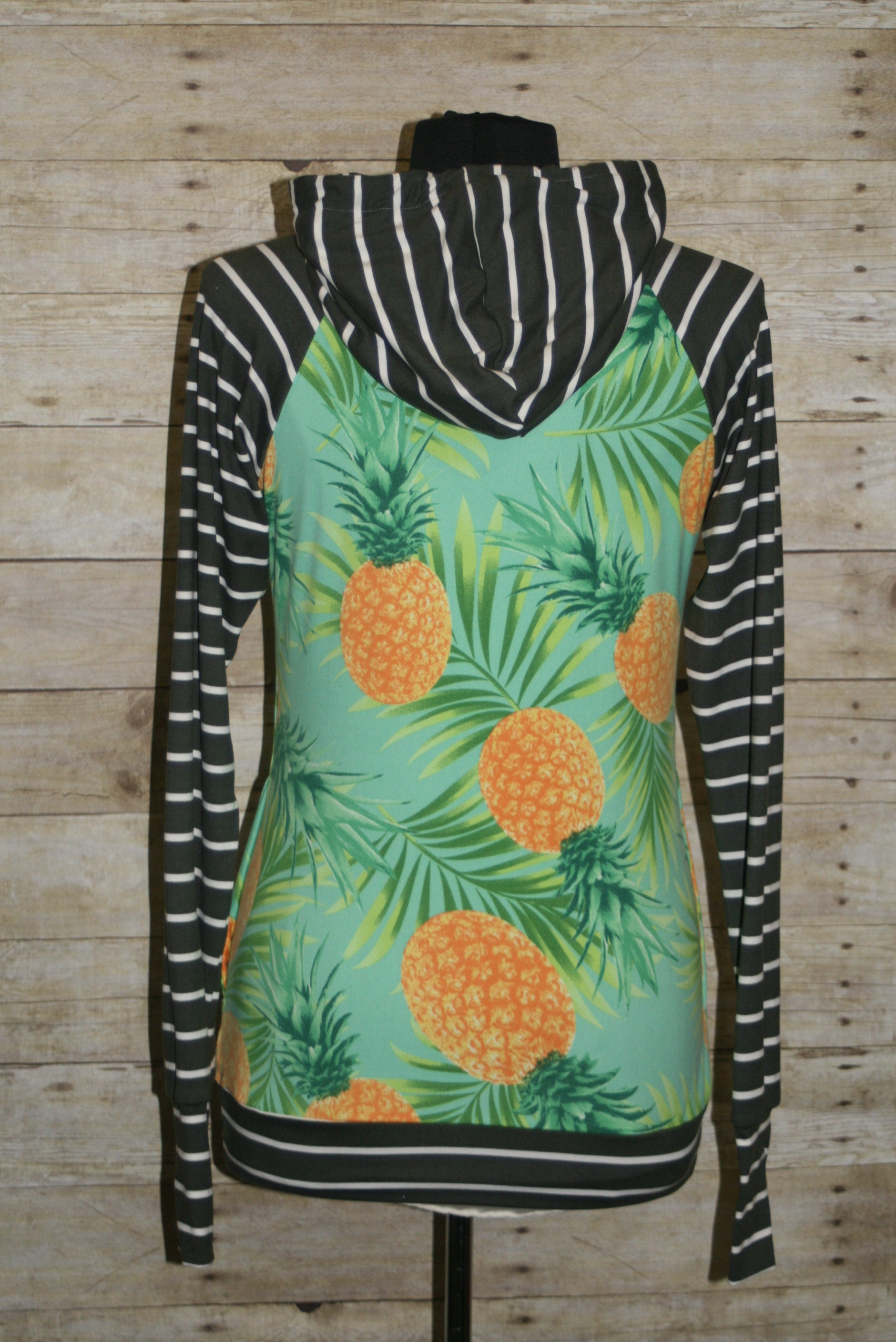 Pineapples & Stripes Tami Hoodie Size 4