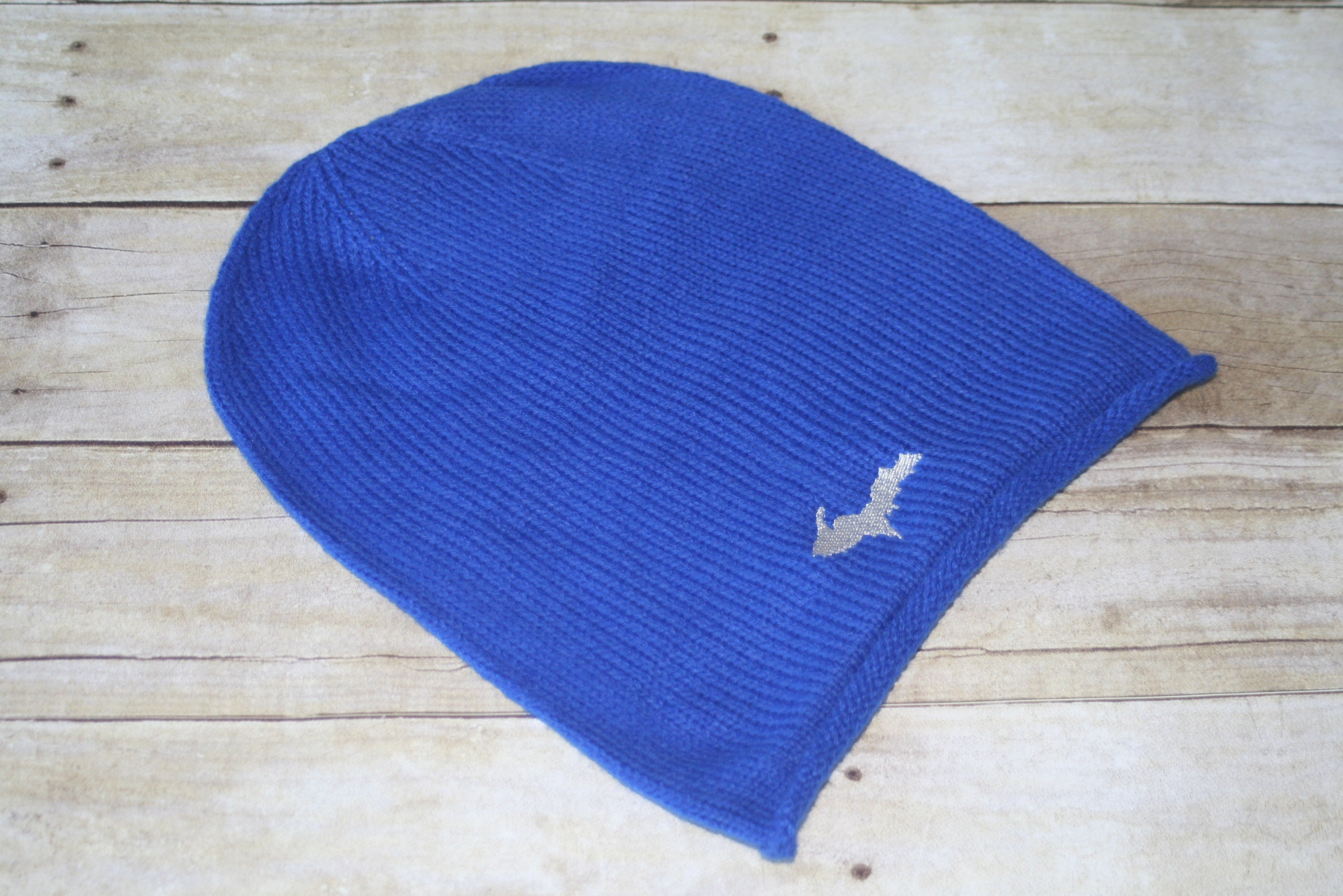 U.P. (Upper Peninsula) Embroidered Oversized Knit Beanie - Hat Adult OS