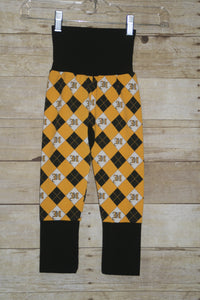 Hufflepuff Argyle Monster Bunz Grow with me Pants Luxe Large {1-4 years}